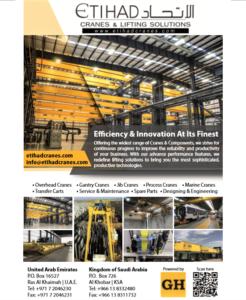 Etihad Cranes in Gulf Construction Magazine