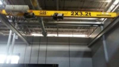 2 x 3.2 Overhead Crane for Production Company in Saudi Arabia
