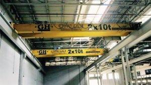 2 X 10 TON Overhead Cranes for project in Saudi Arabia