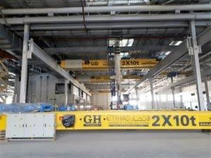 2 x 10 Ton Overhead Cranes in the Kingdom of Saudi Arabia